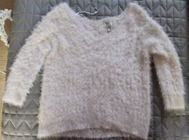 River Island Fluffy Jumper - Size 10