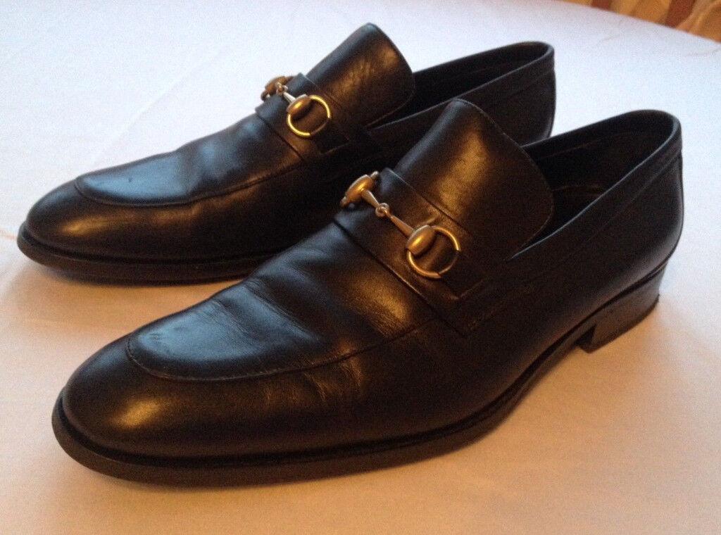 92620d8237f Gucci Men s Shoes Black Leather Horsebit Loafers UK 9 EU 43