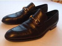 Gucci Men's Shoes Black Leather Horsebit Loafers UK 9 EU 43
