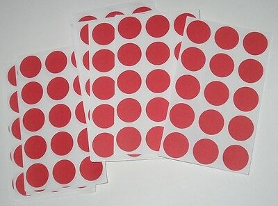 390 Blank Yard Sale Garage Rummage Stickers Price Labels Red See My Other Items