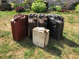 5 Metal Jerry Cans