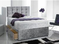 TOP SELLING CRUSHVELVET DIVAN BED SET x