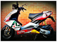 APRILIA SR50R SCOOTER WITH EXTENSIVE PERFORMANCE UPGRADES