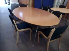 Top quality boardroom table and x 6 chairs