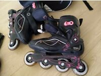 Inline skates & safety gear