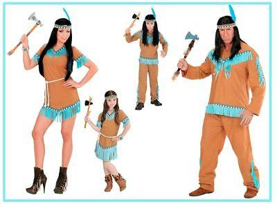 ianerin Kinder Damen Herren Kostüm  Apache Sioux Beige, (K) (Familie Kostüme)