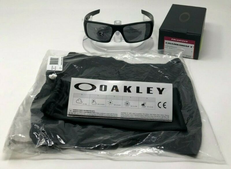 2b975bd7ce New Oakley Crankshaft POLARIZED OO9239-06 Matte Black W Black Iridium +balaclava.