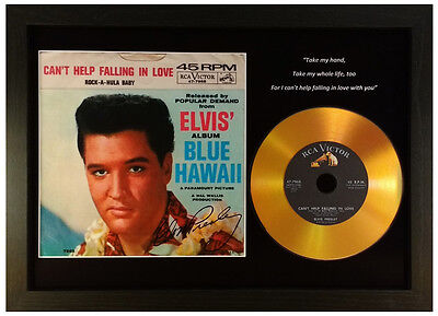 ELVIS PRESLEY 'CAN'T HELP FALLING IN LOVE' SIGNED GOLD PRESENTATION DISC