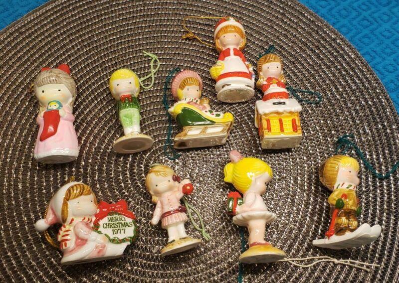 Lot of 9 Joan Walsh Anglund JWA Vintage Christmas Ornaments MINT 1972 - 1982