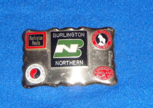 Vintage Burlington Northern Great Northern Northern Pacific Railway Belt Buckle