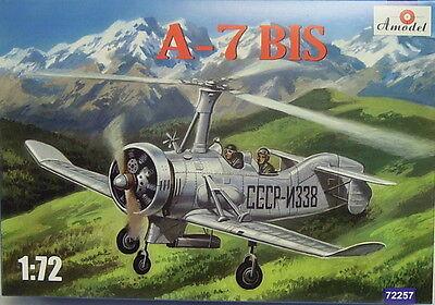Autogiro TsAGI A-7 BIS , 1/72, Amodel, Plastikmodellbausatz, Neuheit