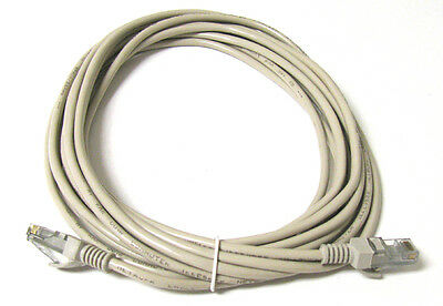 20FT RJ45 CAT5 CAT5E ETHERNET LAN NETWORK Beige CABLE