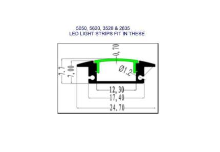 LED STRIP LIGHT MOUNTING CASINGS PROFILES Redcliffe Redcliffe Area Preview