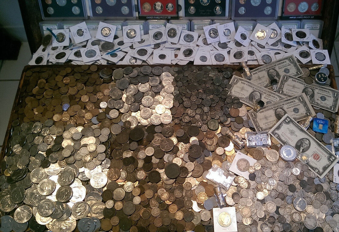 Best  ☆ 100 COIN LOT FROM OLD ESTATE HOARD! ☆ GOLD .999 SILVER BULLION PROOF ROMAN ☆