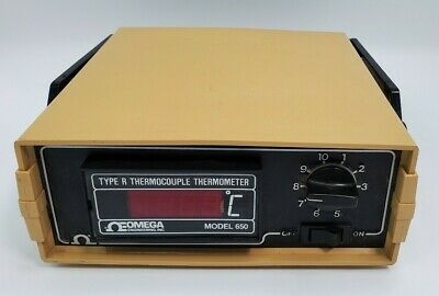 Omega 650 Digital Thermocouple Thermometer Type R 10 Input Centigradecelsius
