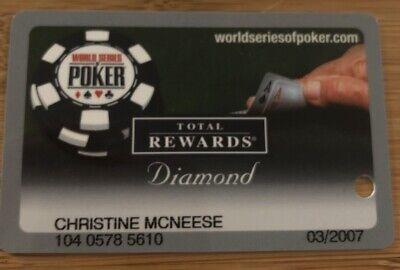 2006 World Series of POKER Total Rewards Harrahs Caesars Slot Card  Prefix (104)
