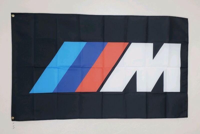BMW Racing Banner ///M Power Logo 3x5 Ft Flag Car Show Garage Wall M Roadster
