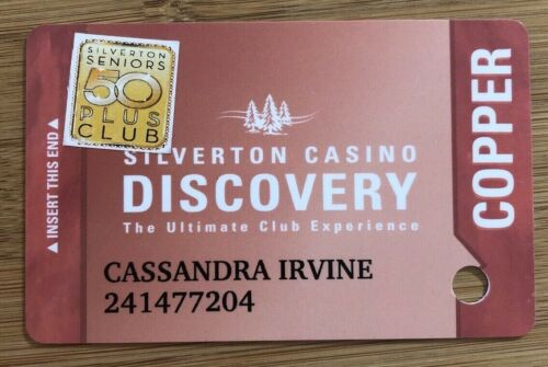SILVERTON CASINO DISCOVERY THE ULTIMATE CLUB EXPERIENCE Players Slot Card 50+