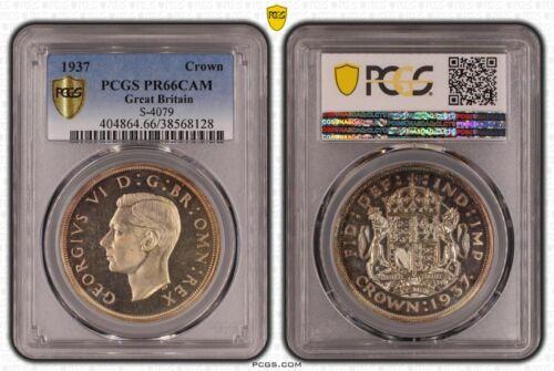 Great Britain, 1937 George VI Crown, PCGS PR - 66 Cameo. 26,000 Mintage.
