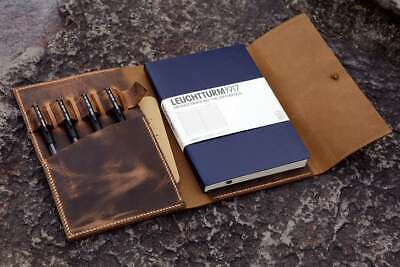 Personalized Leather Cover Case For A5 Bullet Journal Leuchtturm 1917 Notebook