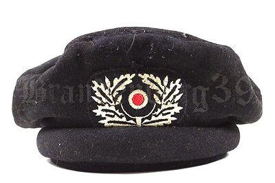 Wehrmacht schwarzes Barett für Panzerbesatzungen Panzer Feldmütze TOP