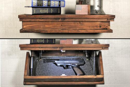 "23"" Concealment Shelf. Floating shelf with Hidden Storage."