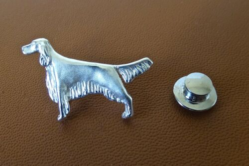 Small Sterling Silver English Setter Standing Study Lapel Pin