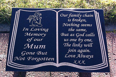 PERSONALISED MEMORIAL STONE GRAVE MARKER GRAVE PLAQUE GRANITE,