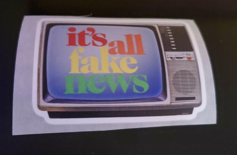 FAKE NEWS CNN SUCKS 🤣 FAUX NEWS Funny Political Bumper Sticker 3 inch 2020 HOAX