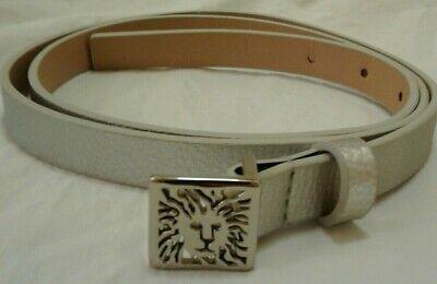 ANNE KLEIN SILVER METALLIC SIGNATURE LION LOGO BUCKLE BELT XL NEW!SPRING SALE!