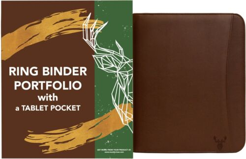 Portfolio Padfolio 3 Three Ring Binder Document Organizer Ve