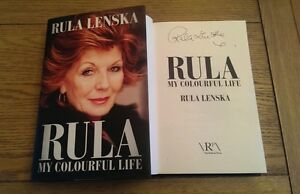 Rula-My-Colourful-Life-SIGNED-Rula-Lenska-Hardback-2013-Autobiography-Book