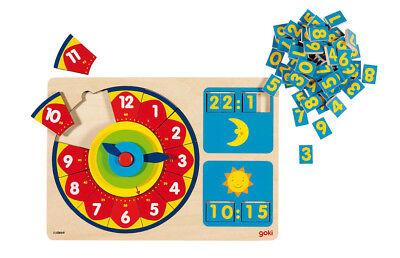 LERNUHR analog und digital Kinderuhr Stunden Minuten Sekunden Uhrzeit lernen NEU