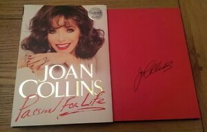 Joan Collins Passion for Life SIGNED Autobiography 1st Edition Hardback Book