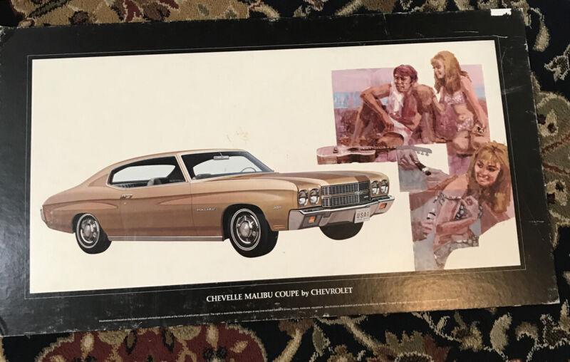 1970 Chevelle Malibu Coupe Poster 32 X 18