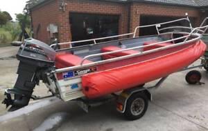3.8 Aluminium Boat for snorkeling fishing diving Peninsula W/Port