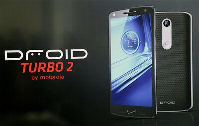 NEW OTHER Motorola Droid Turbo 2 XT1585 32GB - Black Soft Grip Verizon Unlocked