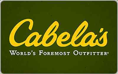 Cabelas Gift Card   15  25  50 Or  100   Email Delivery