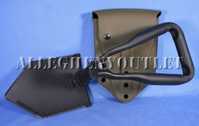 -   US Military Army MINT Entrenching E-Tool AMES Tri-Fold Shovel USED Vinyl Case