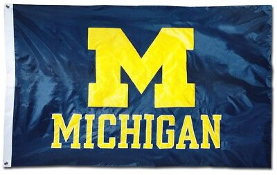 Brand NEW University of Michigan Wolverines Flag Large 3'X5' NCAA FREE SHIPPING