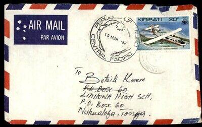Mayfairstamps Kiribati 1987 to Liahona High School Tonga Cover wwe_44933