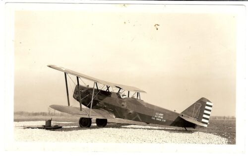Vintage 1920s Original Photo - Military Airplane at Fort Sill - Douglas 0-2H