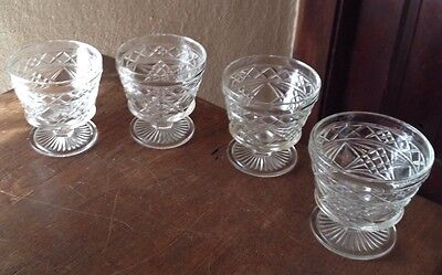 SET 4 ANCHOR HOCKING WEXFORD SHERBET DESSERT CUPS
