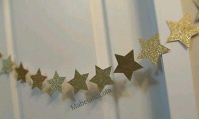 54  Gold Glitter Star Twinkle Twinkle Little Themed Baby Shower Banner Gender