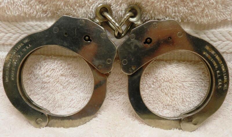 Rare Sirchie Finger Print Labs Inc. Handcuffs-NO KEY-Will work w/Peerless Key