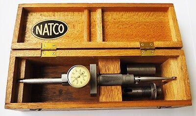 Natco Heavy Duty Dial Indicator 2 Morse Taper Starrett Model 196 Plunger Usa