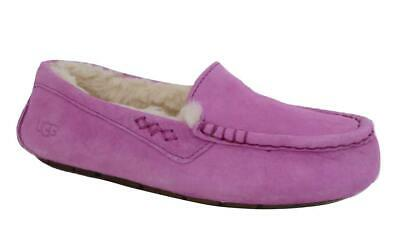 New NIB Ugg Ansley Bodacious Pink Purple Moccasin Slippers Suede Shearling 6, used for sale  Shipping to United Kingdom