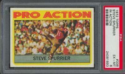 1972 Topps In Action #338 Steve Spurrier EX-MT PSA 6