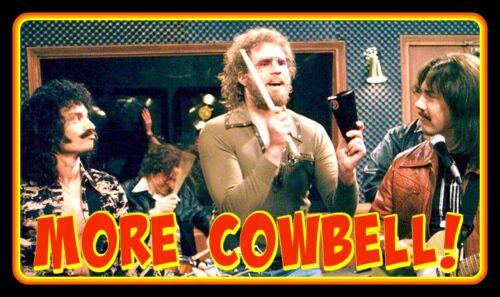 """5"""" Classic MORE COWBELL! vinyl sticker. Ferrell, Walken SNL TV decal for Laptop."""