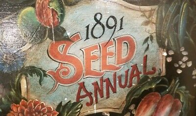 Vintage 1891 SEED ANNUAL  Wooden Tray  Appx. 17x13 inches  DISPLAY ITEM - Unique